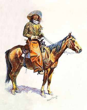 Reproduction Lithograph of 'Arizona Cowboy'  Photo Print