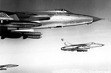 Republic F-105 Thunderchief over Vietnam Photo Print for Sale