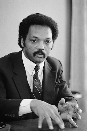 Rev. Jesse Jackson 1983 Interview Portrait Photo Print
