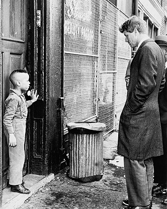 Robert F. Kennedy with Child, Brooklyn 1966 Photo Print