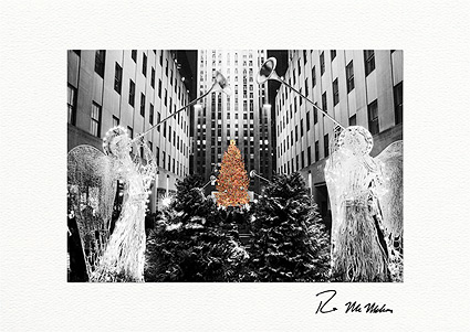 Rockefeller Center Angels and Christmas Tree Individual Cards