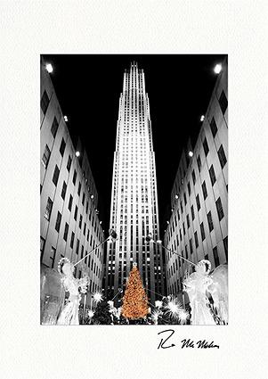 Rockefeller Center Christmas Tree Individual Holiday Cards