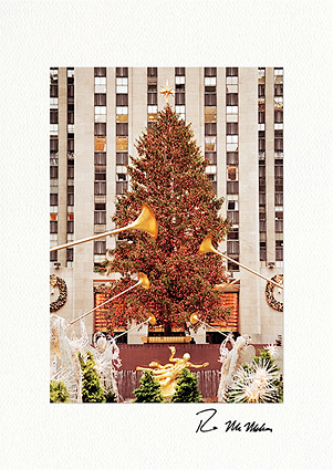 Rockefeller Center Christmas Tree, New York City Individual Greeting Cards