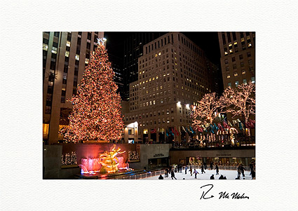 Rockefeller Center Skating Rink and Christmas Tree Boxed Holiday Cards