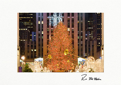 Rockefeller Center Tree Holiday Lights Boxed Christmas Cards
