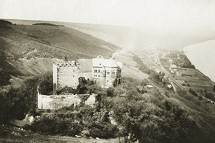 Rolandseck Castle on the Rhine in Germany WWI Photo Print