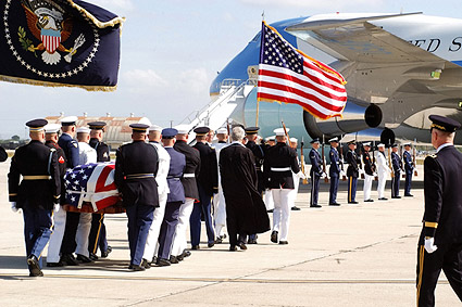 Ronald Reagan Funeral Honor Guard & VC-25 Photo Print