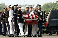 Ronald Reagan Funeral Honor Guard w/ Casket Photo Print for Sale