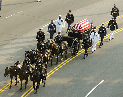 Ronald Reagan Funeral Horse Drawn Caisson Photo Print
