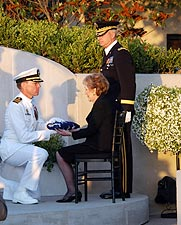 Ronald Reagan Funeral Nancy w/ Casket Flag Photo Print for Sale