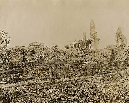 Ruins in Montfaucon, France WWI Photo Print