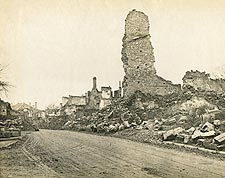 Ruins in Verdun, France WWI Photo Print for Sale