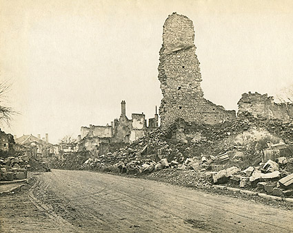 Ruins in Verdun, France WWI Photo Print