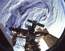 Russian Mir Space Station Indian Ocean NASA Photo Print