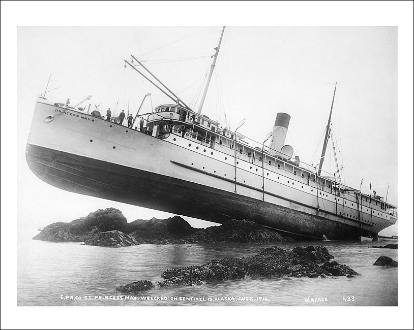 S s princess may ship wreck alaska photo print