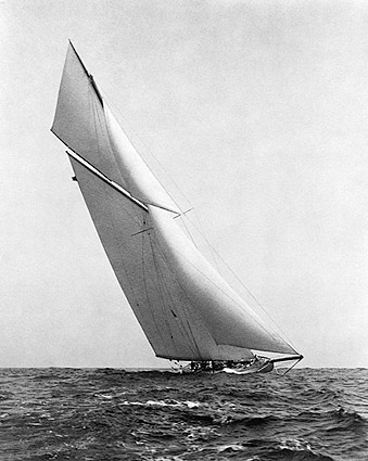 Sailboat Yacht Under Full Sail 1903 Photo Print