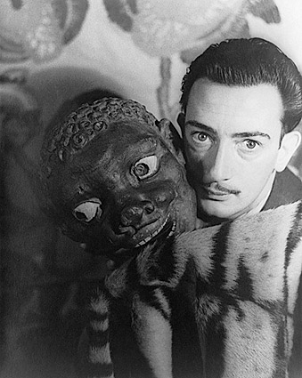 Salvador Dalí with Carved Mask 1939 Photo Print