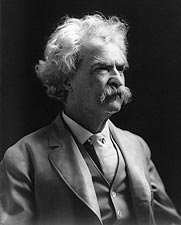 Samuel Clemens aqua Mark Twain Portrait 1907 Photo Print for Sale