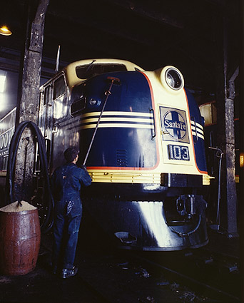 Santa Fe Railroad Locomotive by Jack Delano Photo Print