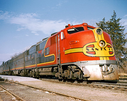 Santa Fe Warbonnet E-3A/E-8B/E-3B Railroad Photo Print