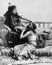 Sarah Bernhardt Reclining Pose 1891 Photo Print for Sale