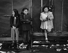 Schoolgirls at Manzanar Japanese Internment Camp WWII Photo Print for Sale
