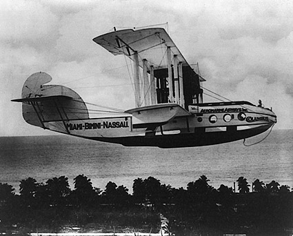 Sea Plane From Miami to Bahamas 1922 Photo Print