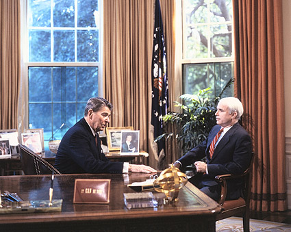 Senator John McCain w/ Ronald Reagan Photo Print