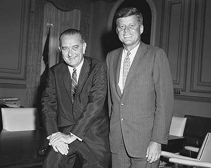 Senators Kennedy and Johnson During 1960 Campaign Photo Print