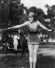 Sexy Mack Sennett Girl in Bathing Suit Photo Print for Sale