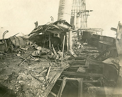 Ship Bombing Aftermath World War 1 Photo Print