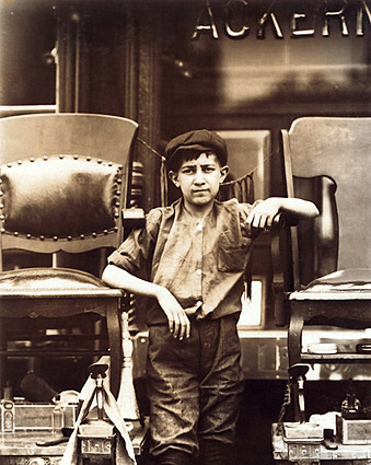 Shoe Shine Boy on Greenwich Avenue in New York City Photo Print