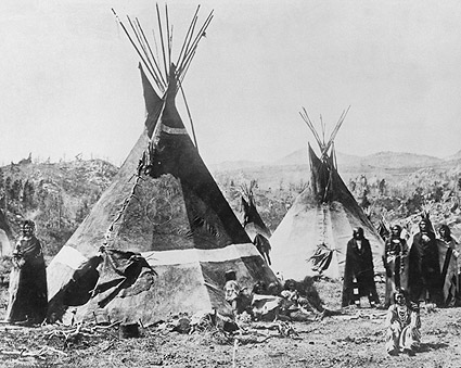 Shoshoni Indian Tribe and Tipis 1880 Photo Print