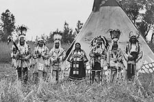 Siksika (Blackfeet) Indians & Tipi 1913 Photo Print for Sale