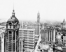 Singer and Woolworth Buildings NYC 1916 Photo Print