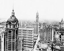 Singer and Woolworth Buildings NYC 1916 Photo Print for Sale