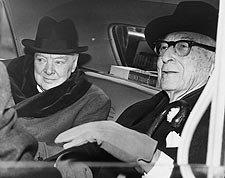 Sir Winston Churchill & Bernard Baruch Photo Print for Sale