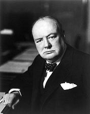 Sir Winston Churchill Portrait Photo Print for Sale