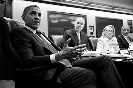 Situation Room Meeting President Barack Obama Photo Print