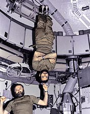 Skylab 4 Gerald Carr and William Pogue Zero Gravity Photo Print for Sale