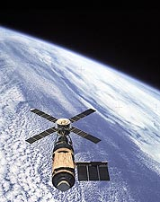 Skylab in Earth Orbit Photo Print for Sale