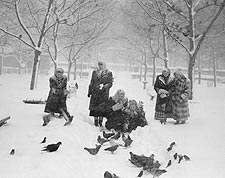 Snow in Bryant Park, New York City 1947 Photo Print for Sale