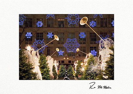 Snowflake Angels at Rockefeller Center Boxed Christmas Cards