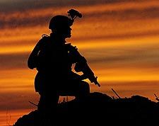 Soldier Patrol in Iraq War US Army 2004 Photo Print for Sale