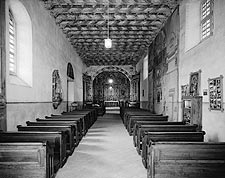 Southwest Adobe Church Interior Photo Print for Sale