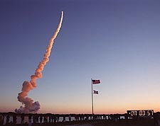 STS-102 Space Shuttle Discovery Launch NASA Photo Print for Sale