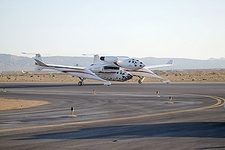 SpaceShipOne & White Knight Taxi on Tarmac Photo Print
