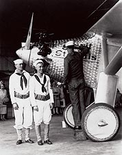 Spirit of St. Louis Airplane & Sailors 1927 Photo Print for Sale