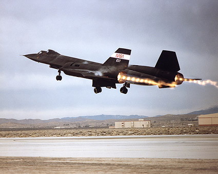SR-71 Blackbird Afterburner Takeoff Photo Print