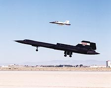 SR-71 Blackbird and F-18 Hornet Take-Off Photo Print for Sale